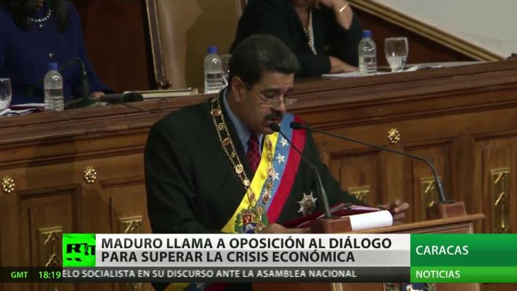 Maduro llama a la oposición al dialogo para superar la crisis económica