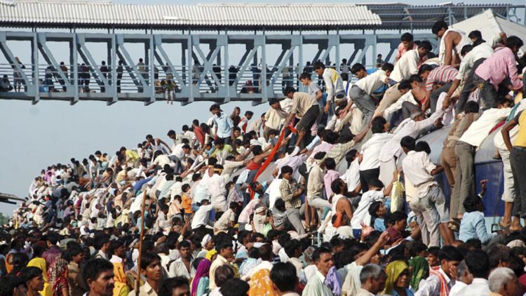 ¿Será India la nueva China? Una gráfica animada muestra 100 años en los países más poblados