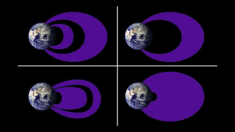 La NASA descubre la verdadera forma de los cinturones de radiación alrededor de la Tierra