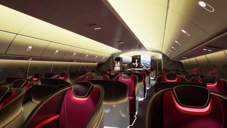Cielo azul y estrellas se incorporarán al futurista avión de pasajeros de Boeing (video)