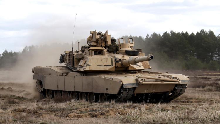 Un carro de combate Abrams