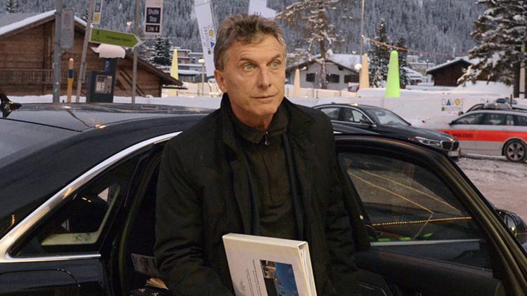 El presidente mauricio Macri a su llegada a Davos