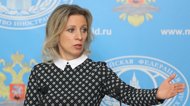 La portavoz del Ministerio de Exteriores, María Zajárova