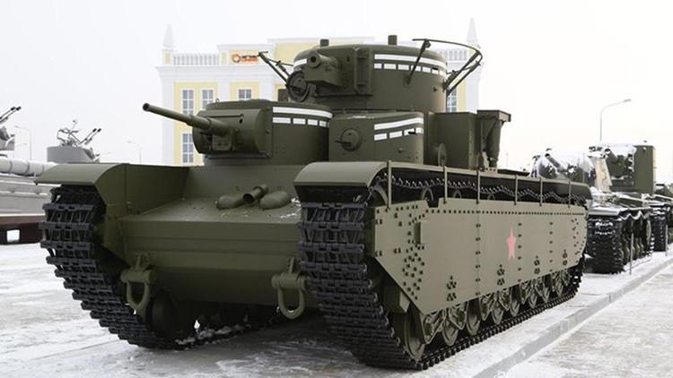 El T-35 y otros tanques simbólicos de Rusia y de la época
