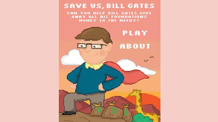 """""""¡Bill Gates, sálvanos!"""": el irónico videojuego que arremete contra el altruismo del multimillonario"""