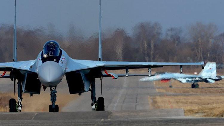 Un Su-35S de cuarta generación ++ que acaba de entrar en servicio en la Fuerza Aérea rusa