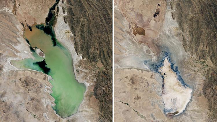 Publican imágenes que muestran la desaparición del segundo lago más grande de Bolivia