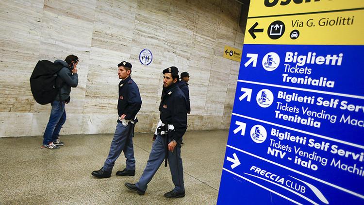 Roma: Evacuan una estación de tren tras amenaza terrorista