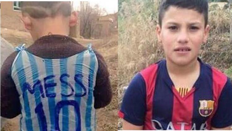 ¿Quién es ese chico? La intriga envuelve al niño que hizo una camiseta de Messi con plástico