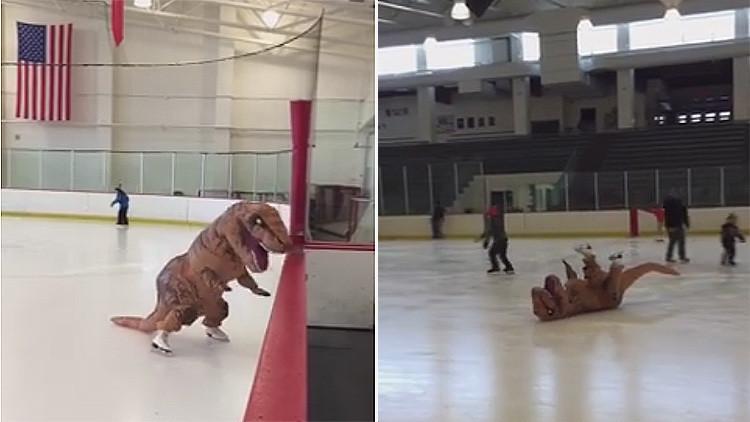 A los dinosaurios también les va el patinaje artístico
