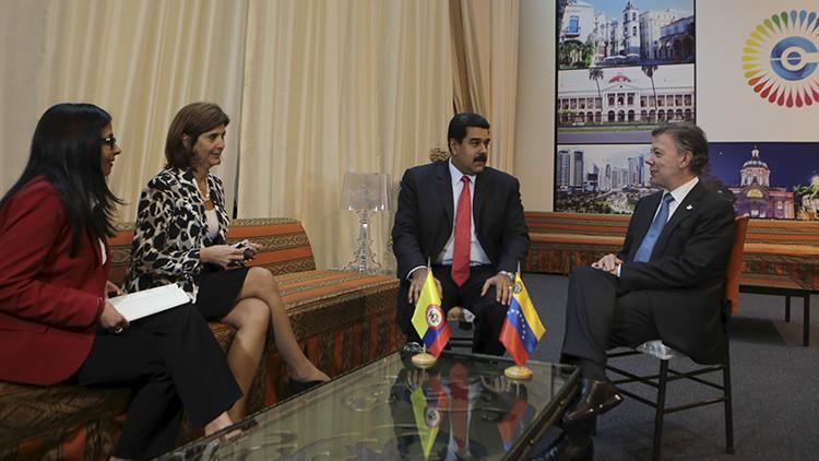 """Maduro a Santos: """"La paz en Colombia es la paz en América"""""""
