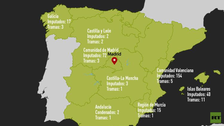 """Salpicados """"hasta el cuello"""": Todo sobre la corrupción en España"""