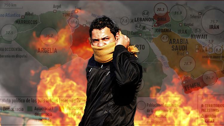 Cinco años convulsos en Oriente Medio: la Primavera Árabe se marchita en el caos y la sangre