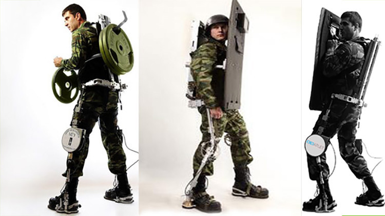 Rusia desarrolla exoesqueletos militares que podrán ser manejados con el pensamiento