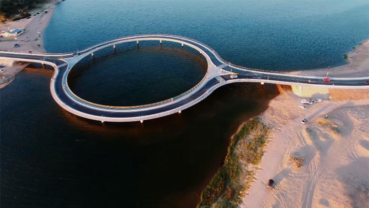 Video: El puente circular de Uruguay que está en boca de todos