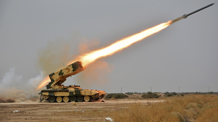 A Russian-made multiple rocket launcher known as the TOS-1A