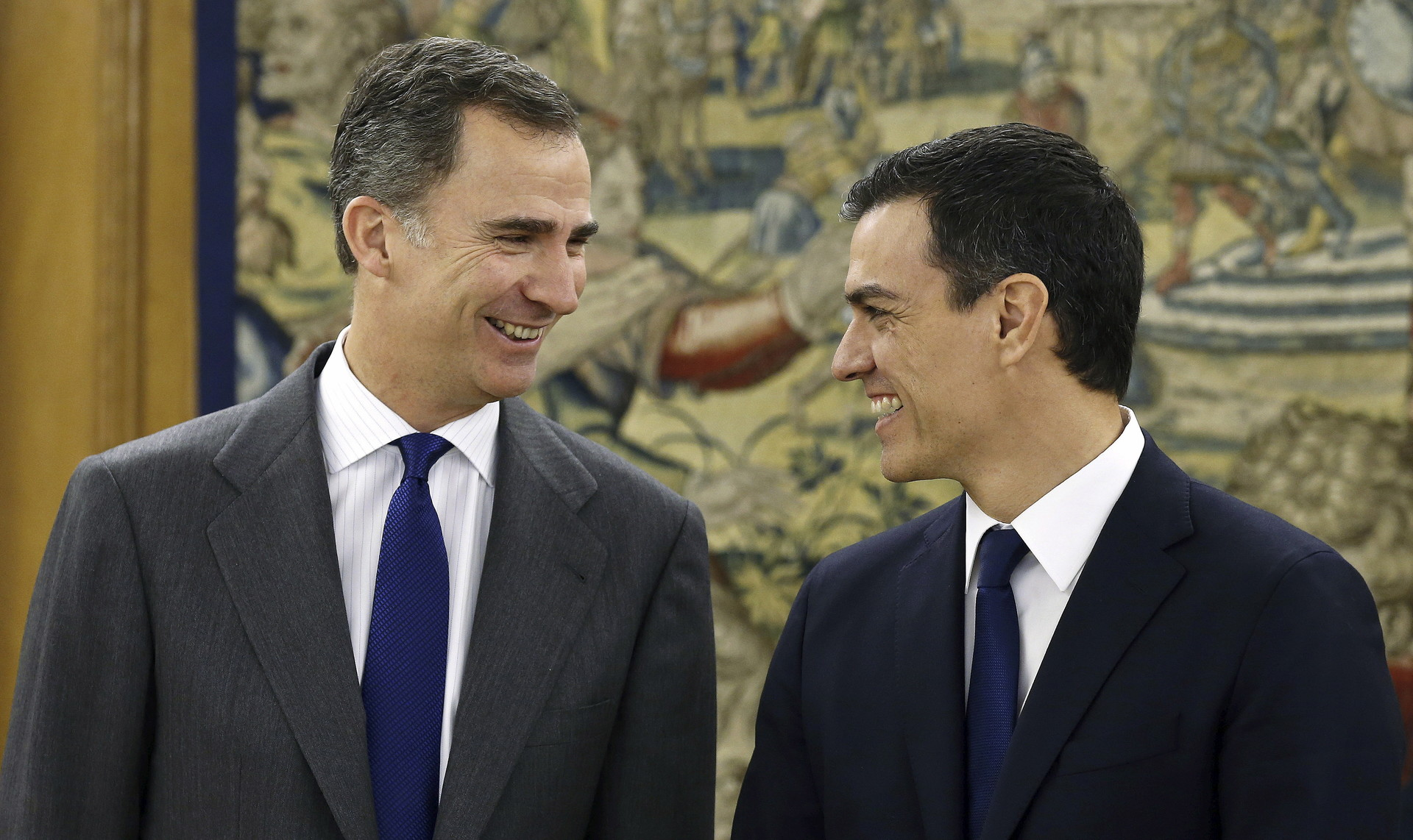 Pedro Sánchez y el rey de España Felipe VI