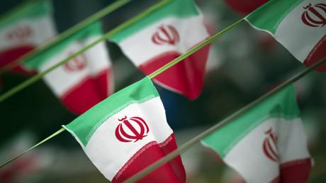 La bandera de Irán / Teherán