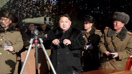 El líder del Estado de Corea del Norte Kim Jong-un