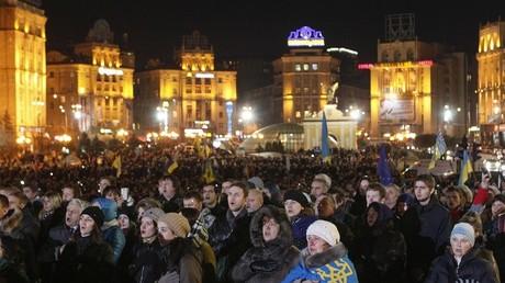 Protesta independentista en Kiev, el 21 de noviembre del 2014/REUTERS/Valentyn Ogirenko