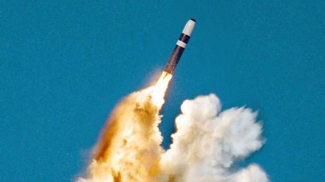Un misil balístico Trident