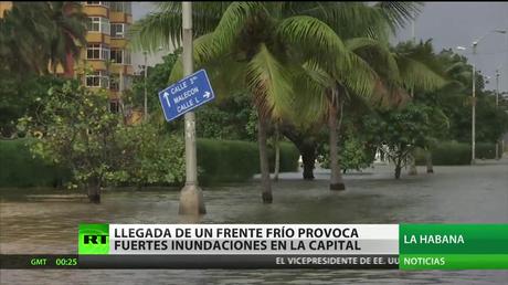 Cuba: Llegada de un frente frío provoca fuertes inundaciones en la capital