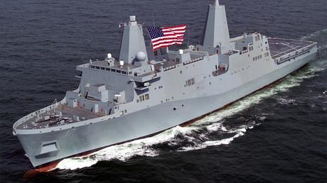 El transporte anfibio USS San Antonio