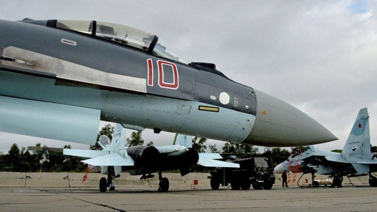 Rusia manda sus cazas Su-35S a Siria para probarlos en combate
