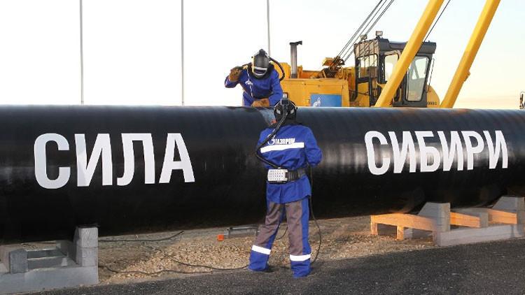 El gasoducto ruso hacia China, el llamado Fuerza de Siberia ('Sila Sibiri' en ruso)