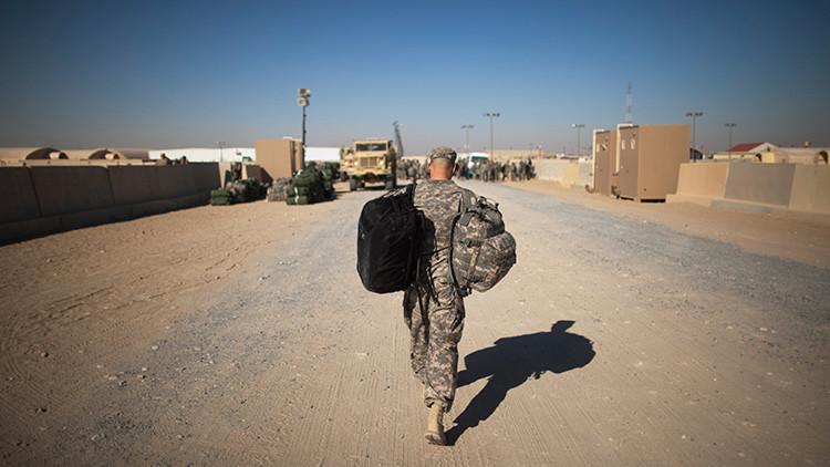 Un soldado estadounidense en Irak