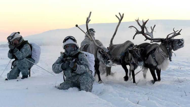 VIDEO: Las tropas árticas rusas se entrenan con huskies y renos