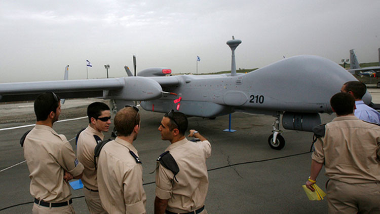 Un dron de reconocimiento israelí modelo Heron TP