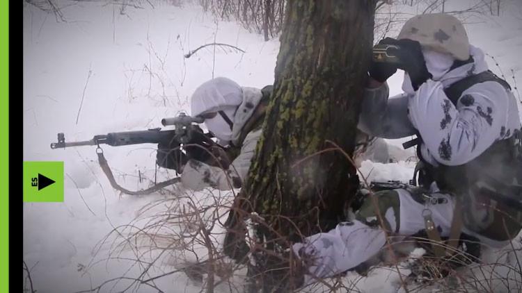 Video: Así entrenan en bosques nevados los francotiradores 'antiprovocación' rusos