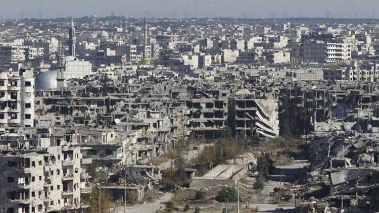 Vista aérea de la ciudad siria de Homs