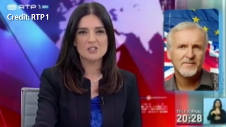 Un error de película: canal de televisión confunde a David Cameron con un famoso director de cine