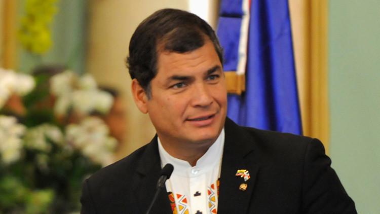 """Correa resalta que la ONU da la razón a Ecuador en el caso Assange """"después de tantos años"""""""