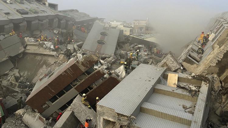 VIDEO: Las ruinas dejadas por el terremoto en Taiwán a vista de dron