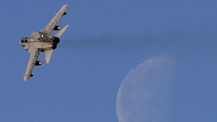 Un cazabombardero Tornado de la Real Fuerza Aérea británica