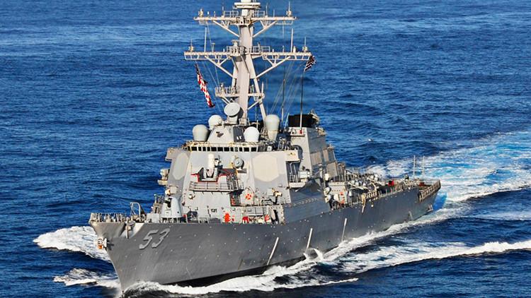 Un destructor estadounidense USS John Paul Jones (DDG-53)