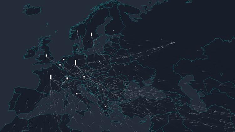 El periplo hacia Europa de los refugiados en un mapa interactivo