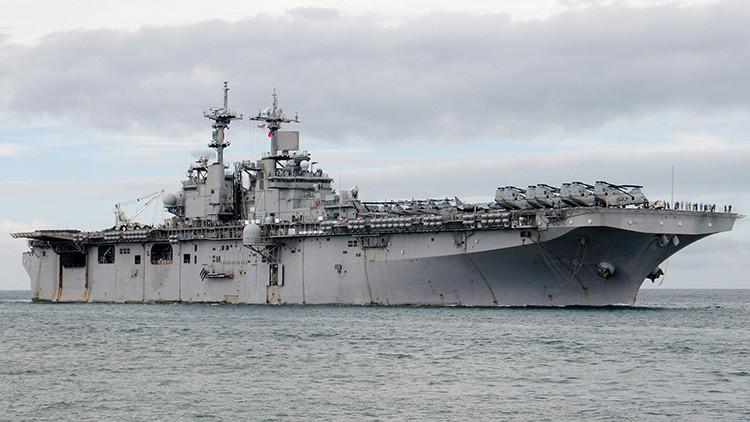 El buque anfibio de asalto de la Marina de EE.UU. 'USS Boxer'