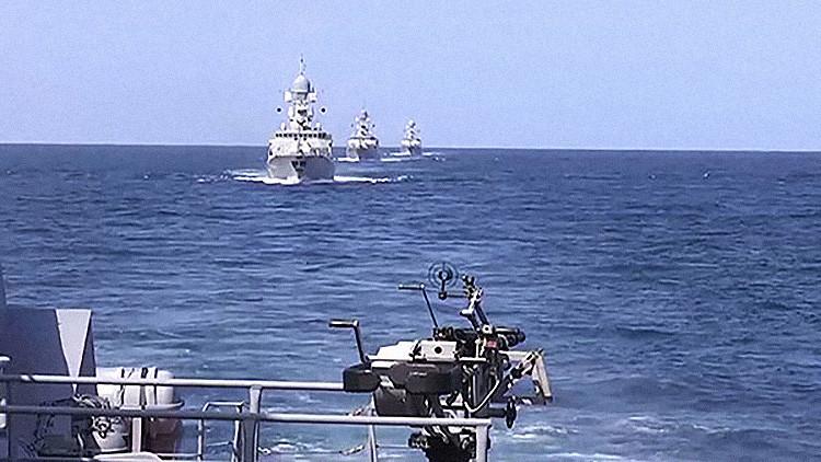 La flotilla del Caspio, 'estrella protagonista' de la operación en Siria, zarpa rumbo a alta mar