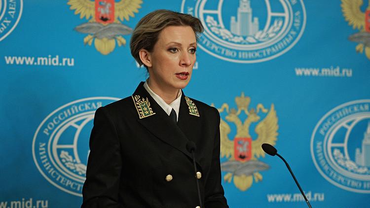 "María Zajárova a RT: ""Están realizando una guerra mediática contra Rusia"""
