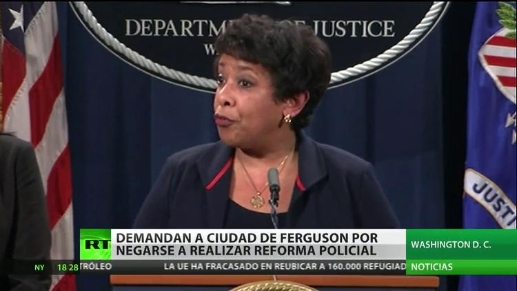 Demandan a la ciudad de Ferguson por negarse a realizar una reforma policial