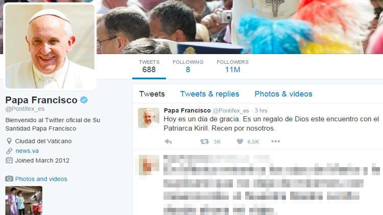 """El papa Francisco: """"Este encuentro con el patriarca Kiril es un regalo de Dios"""""""