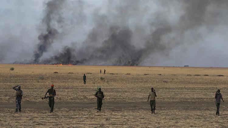 Rebeldes armados en el estado de Alto Nilo, Sudán del Sur