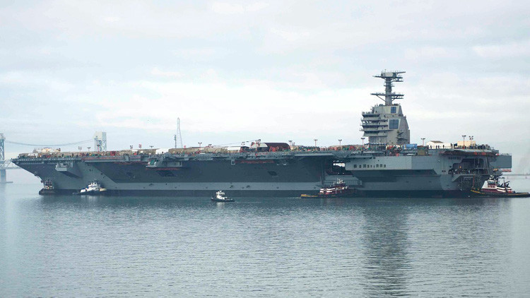 """¿Otro """"museo flotante""""? El portaviones de EE.UU. que podría quedar obsoleto antes de su presentación"""
