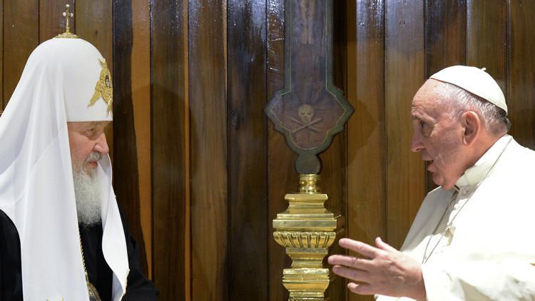 """Patriarca Kiril a RT : """"La reunión con el papa ayudará a crear una civilización sin terrorismo"""""""