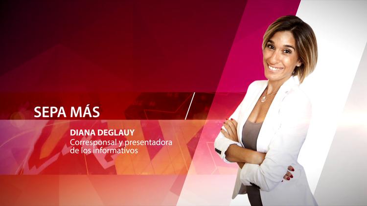 Diana Deglauy, corresponsal y presentadora de los informativos
