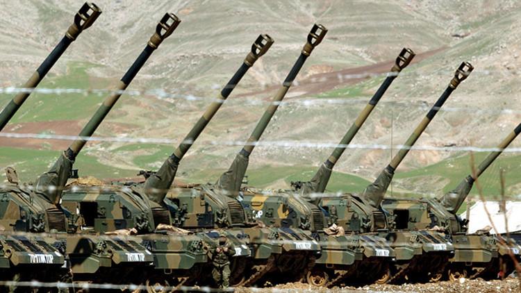 Autopropulsados del Ejército turco.
